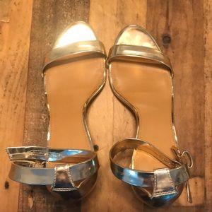 J. crew gold heels